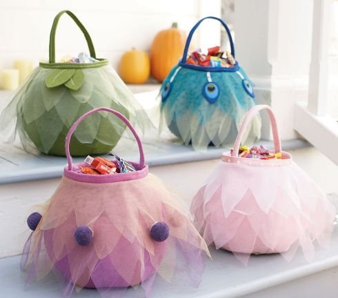 pottery barn kids' green fairy flower bag