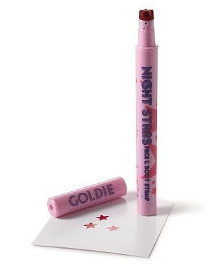 pink night stars face and body stamp
